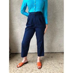 VINTAGE high waisted dressy denim pants
